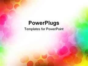 colorful powerpoint templates free powerpoint template multicolored discs on rainbow