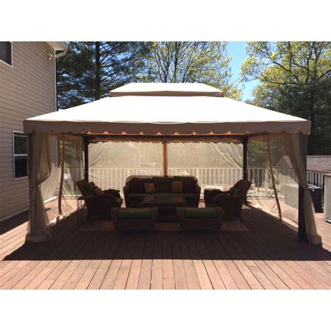 Garden Oasis 12 x 16 Ft Gazebo Replacement Canopy Garden Winds