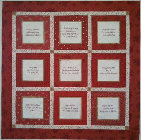 Patchwork Block Of The Month - wise words block of the month gum valley patchwork
