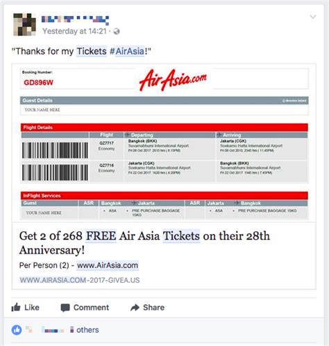 Airasia Ticket | airasia low cost airline warns of quot 268 free air asia