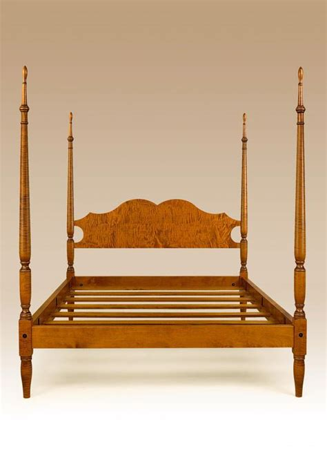tiger wood bedroom furniture poster bed queen size tiger maple wood new bedroom