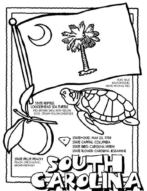 South Carolina Coloring Pages south carolina crayola au