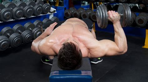 no bench chest workout chest exercises one arm dumbbell press muscle fitness