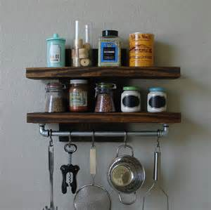 industrial rustic modern 2 tier floating shelf with 18 by
