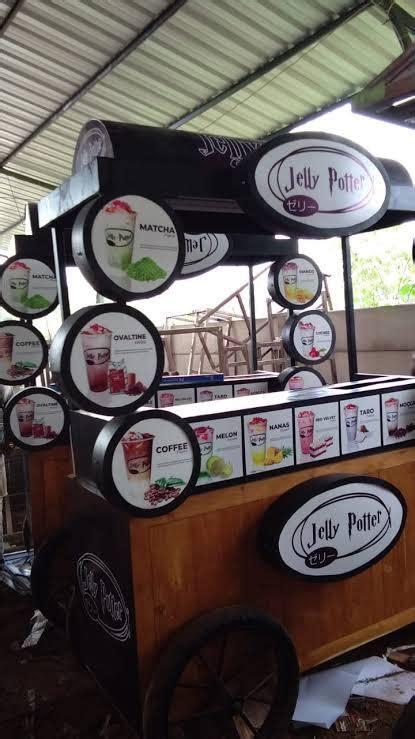 gerobak jualan minuman outdoor jelly potter