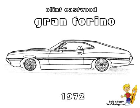 coloring page muscle cars 301 moved permanently