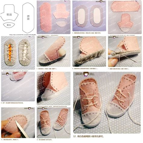 do it yourself crafts step by step find craft ideas how to make little doll shoes step by step diy tutorial