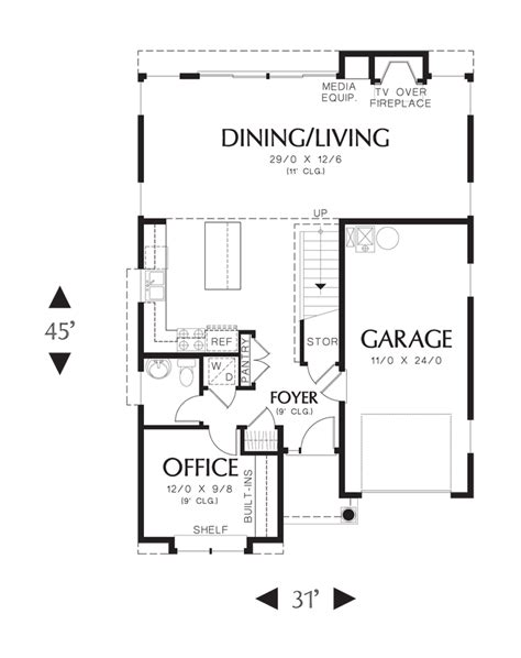 reading a floor plan mascord house plan 21131 the reading