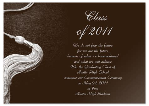 templates for announcements download kit graduation invitation announcement brown word