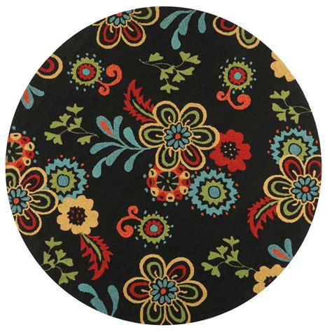 8 foot indoor outdoor rugs home decorators collection tilly black 8 ft x 8 ft indoor outdoor area rug 1323760210
