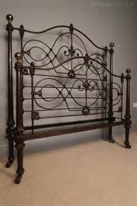 antique cast iron bed rare 19th c cast iron bed original paint 4ft 6 antiques