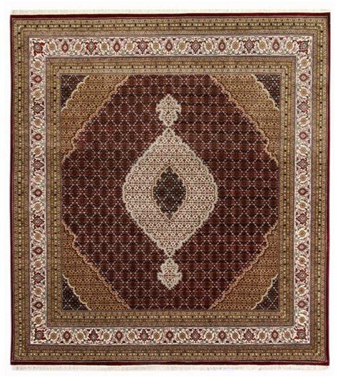 10 X 10 Black Area Rug - square 10 x 10 black ivory decorative wool silk tabriz