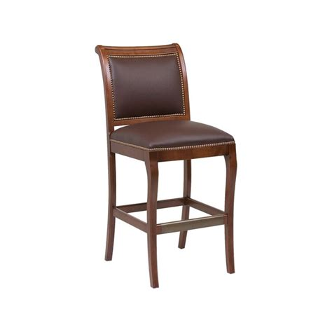 chateau bar stool classic leather 6429abs barstool chateau armless bar stool