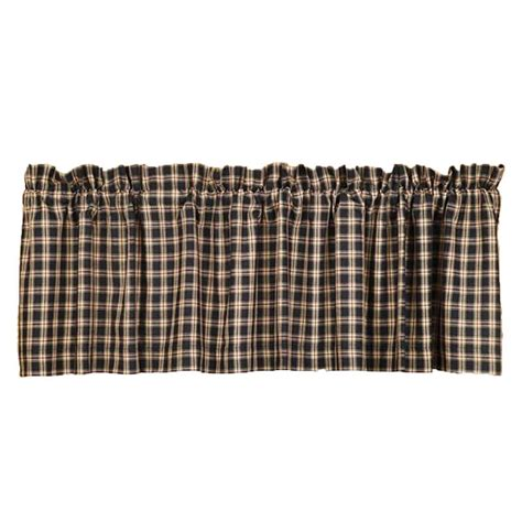 Bingham Star Plaid Curtain Valance