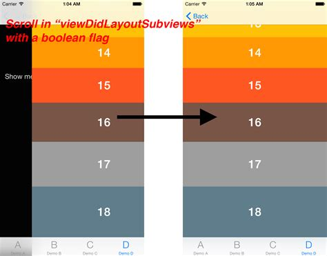 view layout subviews prescroll a uitableview