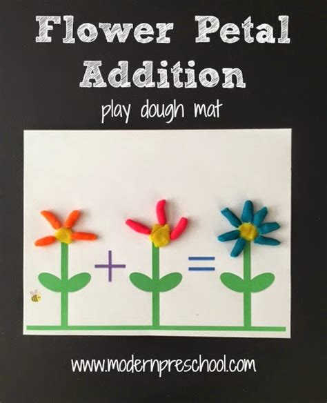 spring printable playdough mats spring flower play dough mat activity