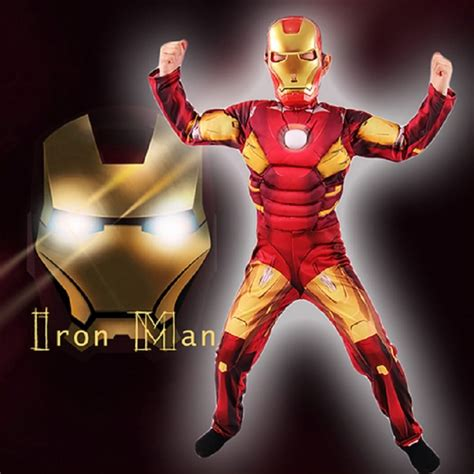 year carnival cosplay iron man costume child fancy
