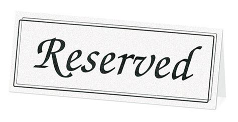 reserved cards for tables templates white reserved table cards 5 68 weddingfavours ca