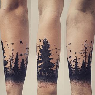 forest silhouette tattoo forest silhouette art pinteres