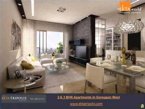 home interior design 2bhk 2 bhk 3 bhk flats in goregaon west mumbai youtube