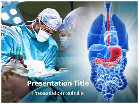 Gastric Surgery Powerpoint Templates And Backgrounds Surgery Ppt Templates Free