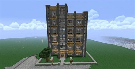 Post Modern House Plans Apartment Complex Minecraft Project