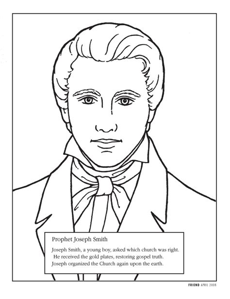 lds coloring pages joseph smith lds coloring pages 2016 2008
