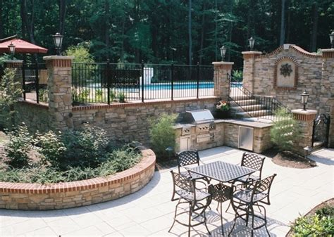 two level backyard 2 level backyard landscaping ideas outdoor furniture