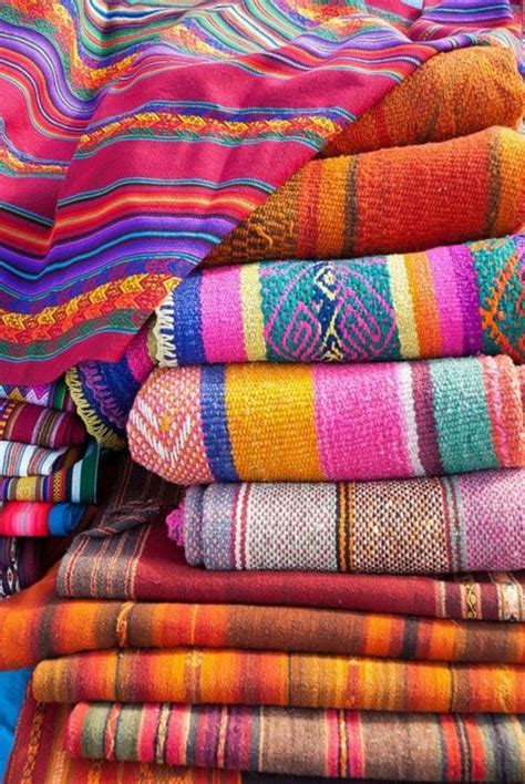mexican blanket upholstery fabric interior design in mexican style one decor