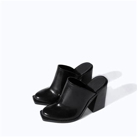 zara black high heel sling back mule product 1 17463388 3