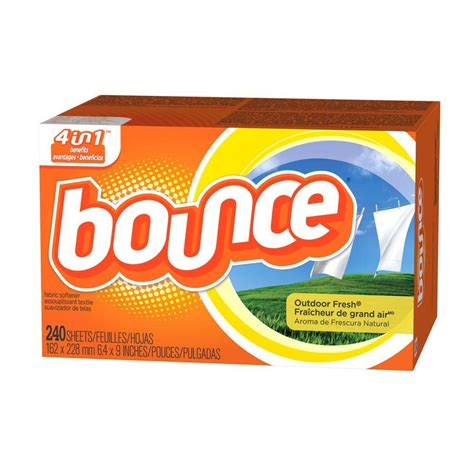 bounce dryer sheets bounce outdoor fresh dryer sheets 240 count of 6 003700007312 the home depot