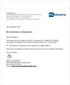 Employment Confirmation Letter Nz Employment Letters