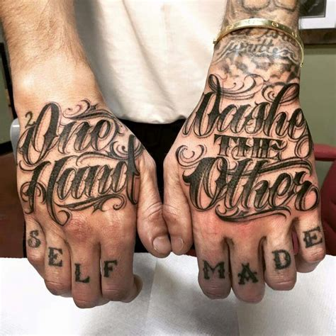 tattoo lettering on hands done by my boy tattoos pinterest tattoo tatting