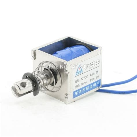 jf 0826b dc 12v 2a push pull type open frame solenoid electromagnet 10mm 20n 4 4lb in switches