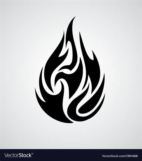 tribal fire vector image by vectoryone image 1984668