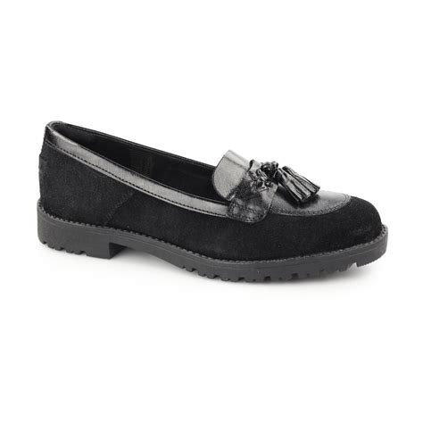 Kickers Black Suede kickers lachly tass womens mod suede leather smart