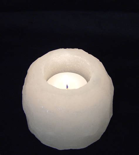 Salt L Candle Holder by White Salt Candle Holder Himalayan Sold Pack Of 3