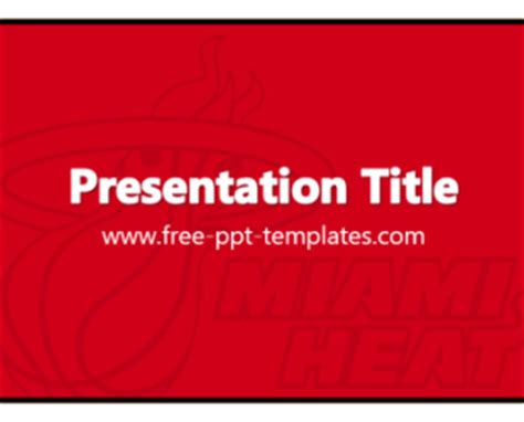 Miami Heat Ppt Template Free Powerpoint Templates Of Miami Powerpoint Template