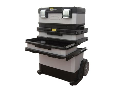 plastic rolling tool box stanley sta195622 fatmax metal plastic rolling workshop