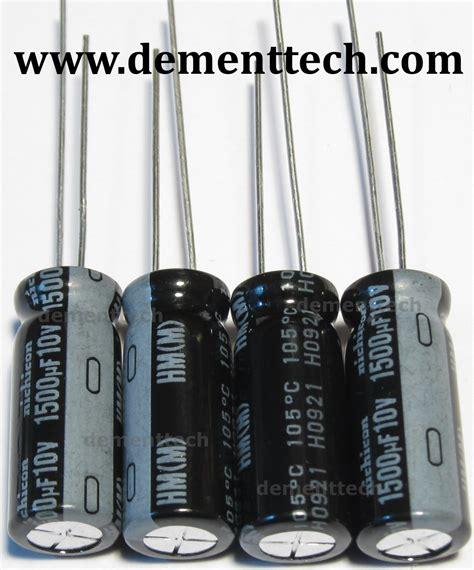 nichicon capacitors low esr 4x 1500uf 10v nichicon hm 105c 8mm capacitors ultra low esr impedance
