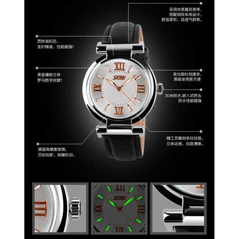 Jam Tangan Wanita 8 skmei jam tangan analog wanita 9075cl black