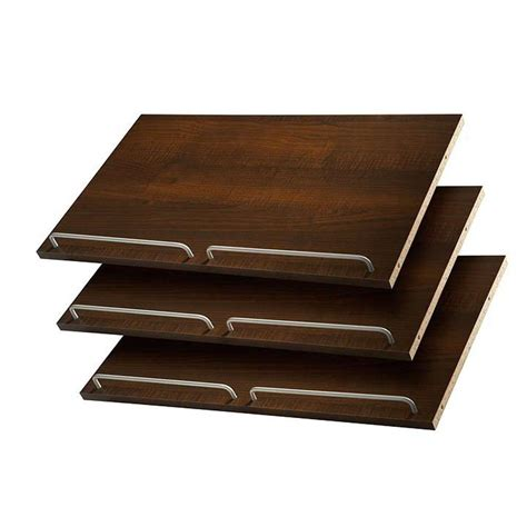 martha stewart living 24 in espresso shoe shelves 3 pack