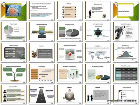 Business Relations Powerpoint Template Set Business Plan Template Powerpoint Free
