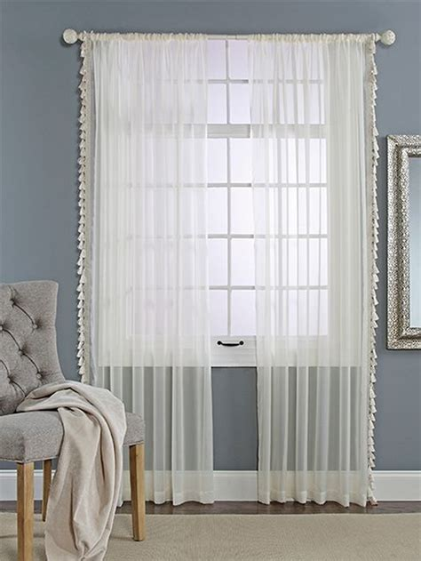 renaissance curtains charlotte sheer curtain with tassels by renaissance home