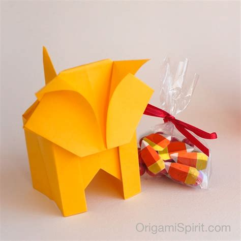 Origami Cat Box - a origami cat it s a box version 2 of 2