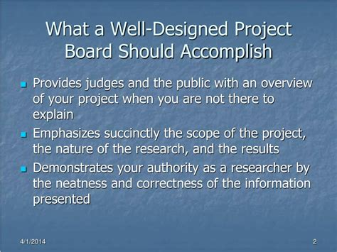 Ppt Tips On Designing An Isef Affiliated Science Fair Well Designed Presentations