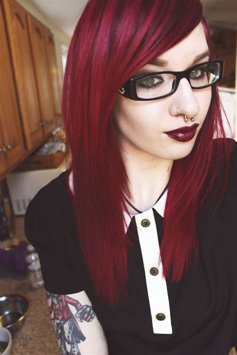 115 best black and crimson hair images on hair