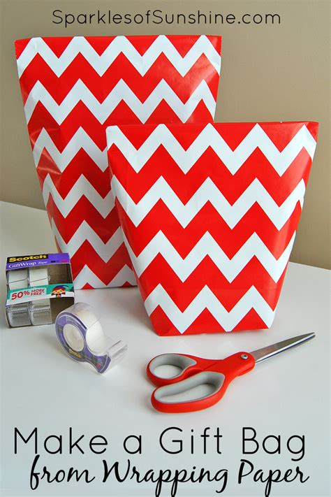 How To Make Gift Bag From Wrapping Paper - how to make a gift bag from wrapping paper in 5 simple steps