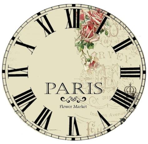 printable 6 inch clock face 43 best images about decoupage on pinterest vintage