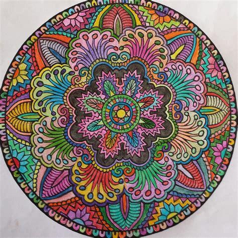 colored mandalas mandala colored pencil 2014 my creations